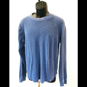 Lucky Brand Lived In Thermal Blue Shirt Men's